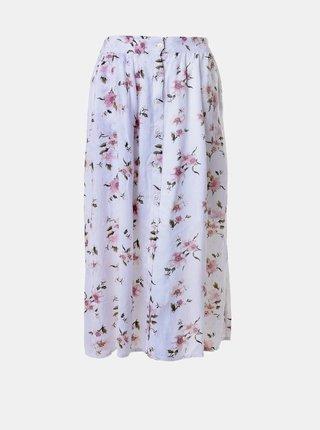 Bílá květovaná midi sukně Ble
