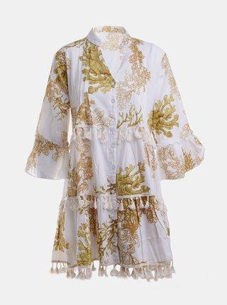 Biele vzorované šaty Ble