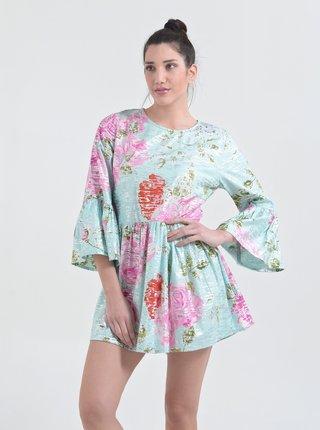Svetlomodré kvetované šaty Ble