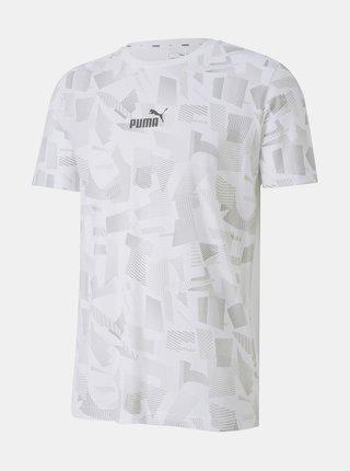 Bílé pánské vzorované tričko Puma