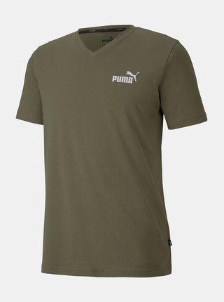 Kaki pánske tričko Puma