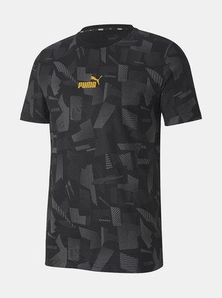 Černé pánské vzorované tričko Puma
