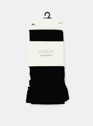 Čierne pančuchové nohavice ONLY