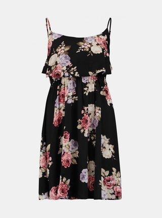 Čierne kvetované šaty Haily´s Kim