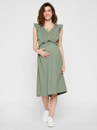 Zelené těhotenské šaty Mama.licious Milla