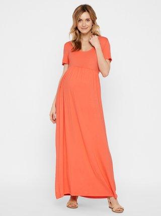 Oranžové tehotenské maxišaty Mama.licious Tatianna