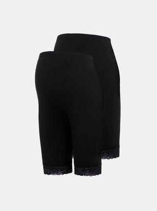Sada dvou černých těhotenských elastických kraťasů Mama.licious Lenna