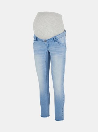 Světle modré těhotenské slim fit džíny Mama.licious Arena