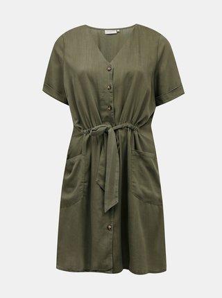 Tmavozelené šaty ONLY CARMAKOMA Norar