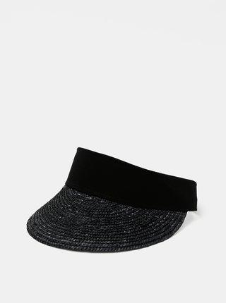 Černý slaměný kšilt VERO MODA Frilla