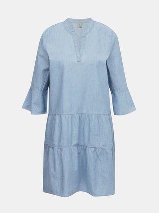 Svetlomodré voľné rifľové šaty VERO MODA Carola