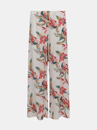 Bílé květované široké kalhoty Roxy