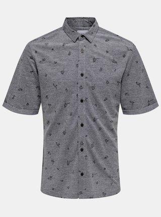 Šedá vzorovaná košile ONLY & SONS
