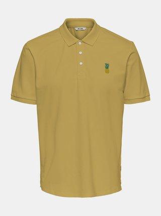 Žluté polo tričko ONLY & SONS