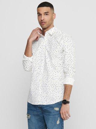 Biela vzorovaná košeľa ONLY & SONS