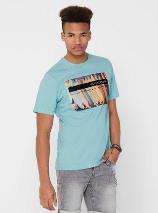 Modré tričko ONLY & SONS