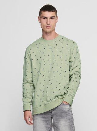 Zelená vzorovaná mikina ONLY & SONS