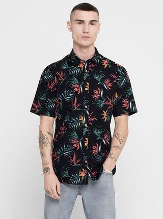 Černá vzorovaná košile ONLY & SONS
