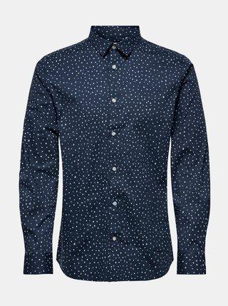 Tmavě modrá vzorovaná košile ONLY & SONS