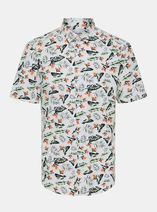 Bílá vzorovaná košile ONLY & SONS