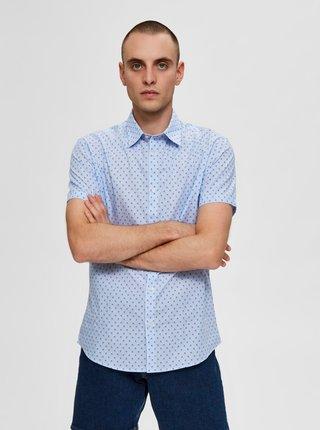 Tricouri cu maneca scurta pentru barbati Selected Homme - albastru deschis