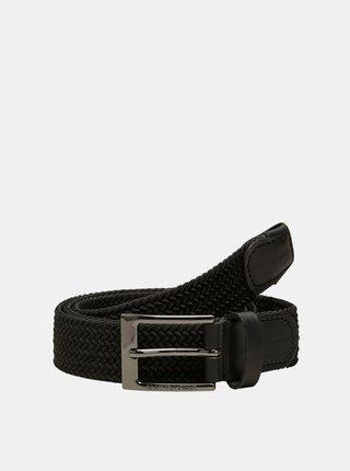 Černý pásek a koženými detaily Selected Homme
