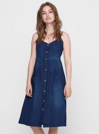 Tmavomodré rifľové šaty Jacqueline de Yong Saint