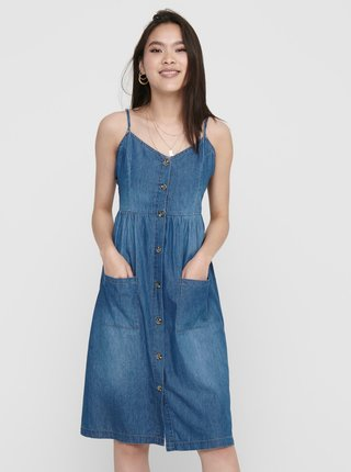 Modré rifľové šaty Jacqueline de Yong Saint