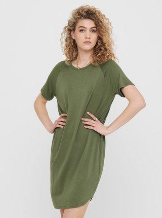 Zelené volné basic šaty Jacqueline de Yong Fantorini