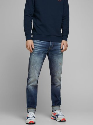 Modré tapered fit rifle Jack & Jones Fred