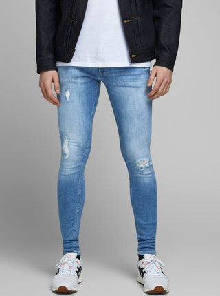 Modré skinny fit džíny Jack & Jones Tom
