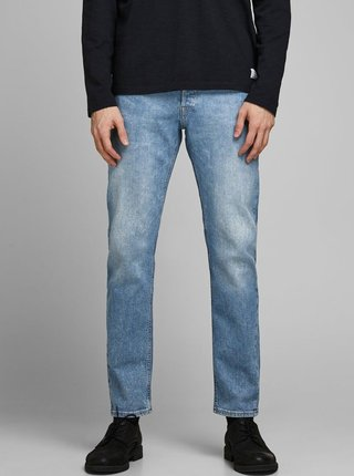 Modré comfort fit rifle Jack & Jones Mike