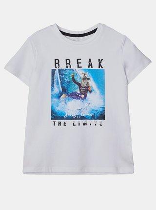 Biele chlapčenské tričko name it