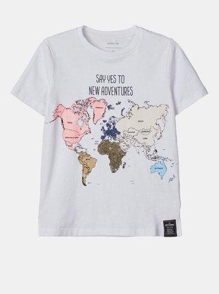 Bílé klučičí tričko name it