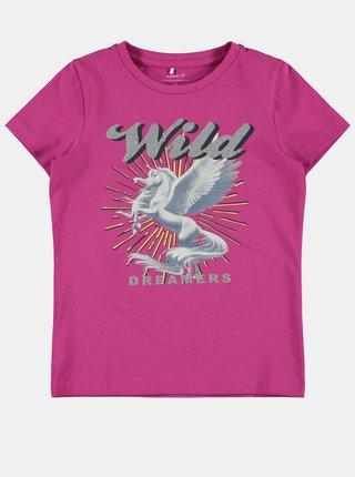 Ružové dievčenské tričko name it