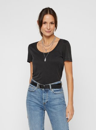 Černé tričko Pieces Kaitlin