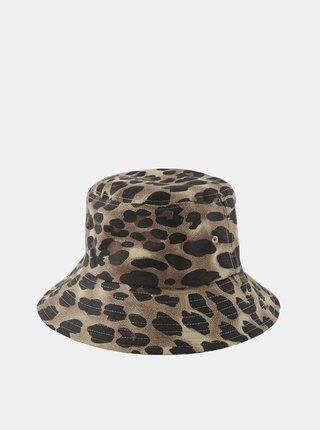 Hnedý klobúk s leopardím vzorom Pieces Abbi