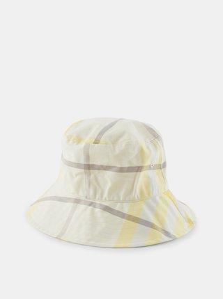 Krémový vzorovaný klobúk Pieces Abbi