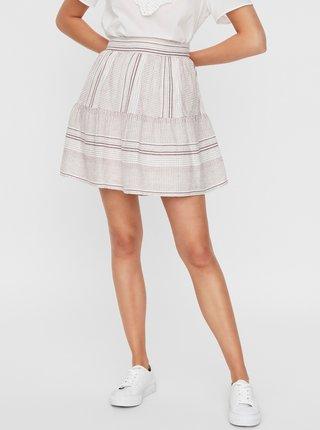 Bílá vzorovaná sukně VERO MODA Hazel