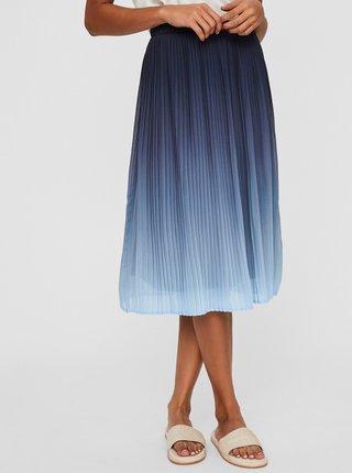 Modrá plisovaná sukňa VERO MODA Luna