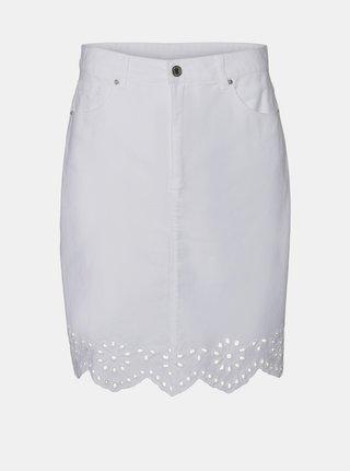 Bílá džínová sukně VERO MODA Lisa