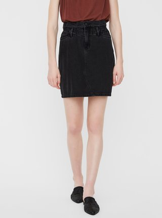 Černá džínová sukně VERO MODA Sandy