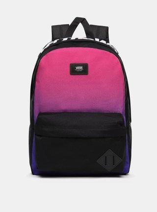 Čierno-ružový batoh VANS