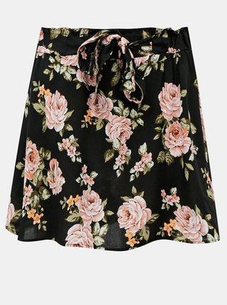 Černá květovaná sukně Haily´s Tracy