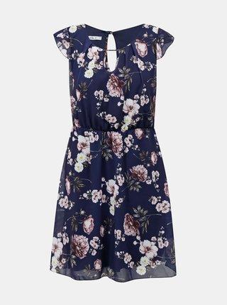 Tmavomodré kvetované šaty Haily´s Emmi