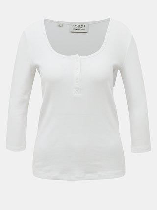 Bílé tričko Selected Femme Analipa