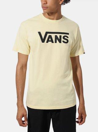 Svetložlté pánske tričko s potlačou VANS
