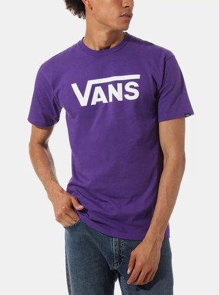 Fialové pánské tričko s potiskem VANS
