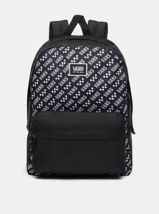 Černý vzorovaný batoh VANS 22 l
