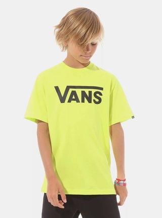 Neonovo žlté chlapčenské tričko s potlačou VANS